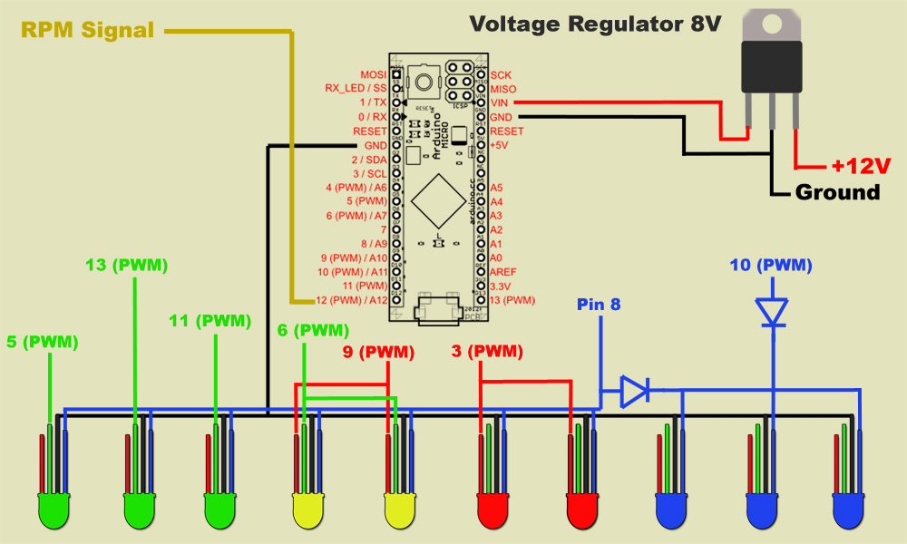 Vehicle rpm sequential shift lights – Rpm Frequency Meter Wiring Diagram
